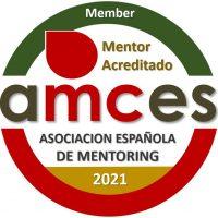 Sello mentor acreditado AMCES